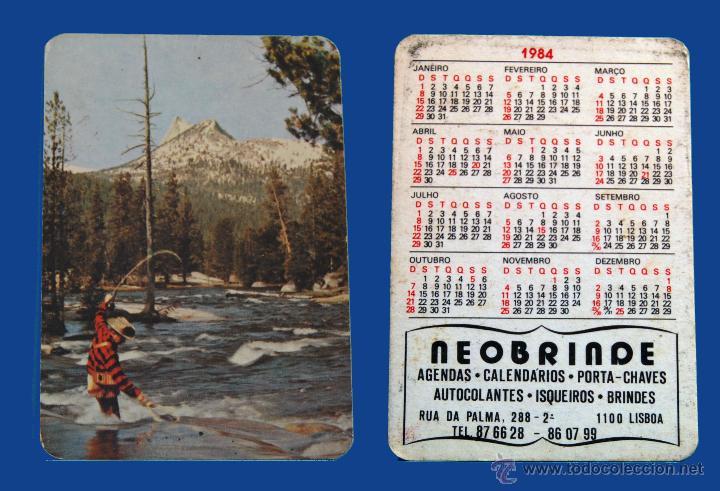 Calendario De Pesca.Calendario Serie Pesca Publicado Portugal Ano 1984 Neobrinde Lisboa