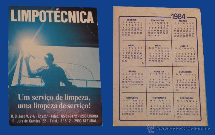 Calendario Serie A 17 18.Calendario Serie Publicidad Publicado Portugal Ano 1984 Limpotecnica Setubal