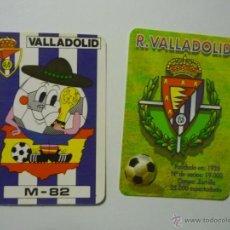 Coleccionismo Calendarios: LOTE CALENDARIOS FUTBOL VALLADOLID 1982--1998. Lote 50482700