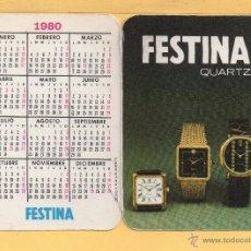 Coleccionismo Calendarios: CALENDARIO DE PUBLICIDAD DEL AÑO 1980 DE RELOJ FERTINA LIBRILLO. Lote 50527611
