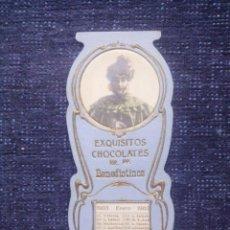 Coleccionismo Calendarios: CALENDARIO EXQUISITOS CHOCOLATES RR.PP. BENEDICTINOS / TROQUELADO / 1903. Lote 50638898