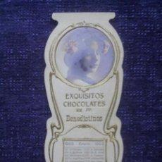 Coleccionismo Calendarios: CALENDARIO EXQUISITOS CHOCOLATES RR.PP. BENEDICTINOS / TROQUELADO / 1903. Lote 50638917