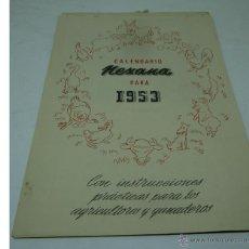 Coleccionismo Calendarios: CALENDARIO DE PARED PUBLICIDAD NEXANA 1953 . Lote 50640657