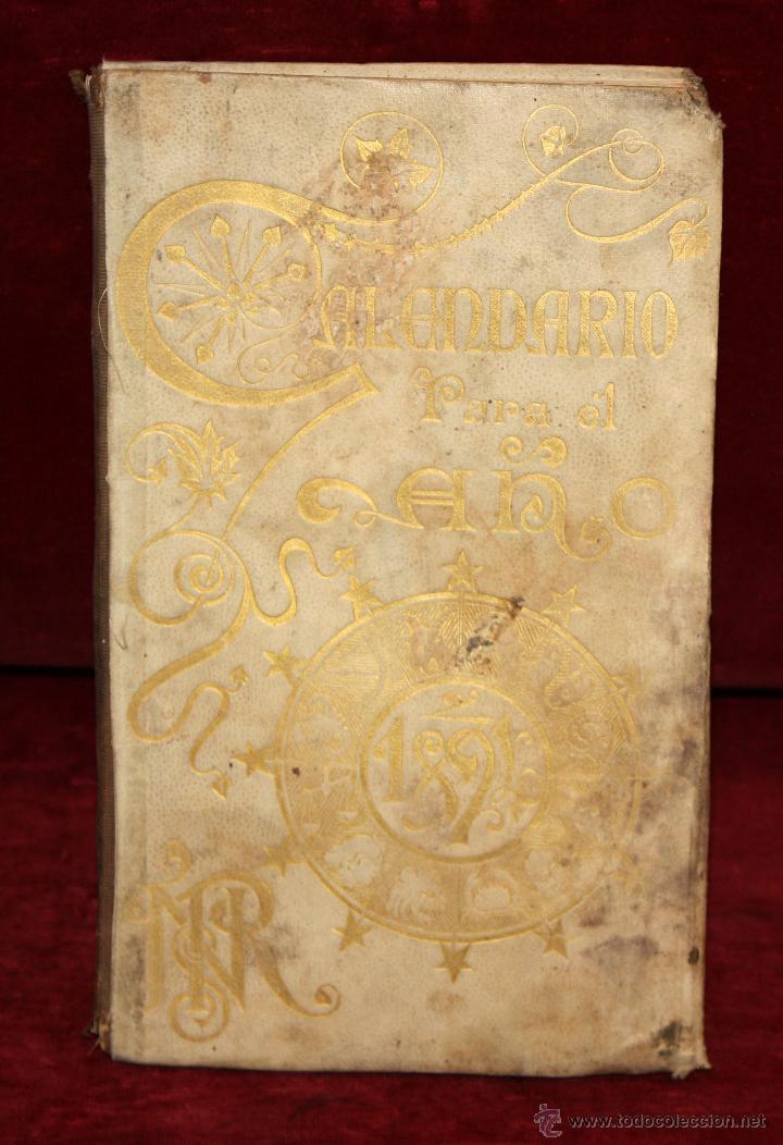 PRECIOSO LIBRO CALENDARIO DE 1893. PUBLICADO DE HENRICH Y CIA. BARCELONA. (Coleccionismo - Calendarios)