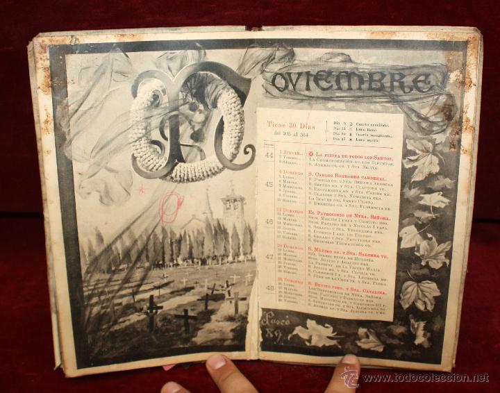 Coleccionismo Calendarios: Precioso libro calendario de 1893. Publicado de Henrich y Cia. Barcelona. - Foto 2 - 50647905