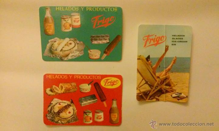 TRES CALENDARIOS HELADOS FRIGO.AÑOS 1963, 1966, 1967 (Coleccionismo - Calendarios)