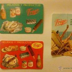 Coleccionismo Calendarios: TRES CALENDARIOS HELADOS FRIGO.AÑOS 1963, 1966, 1967. Lote 50827684