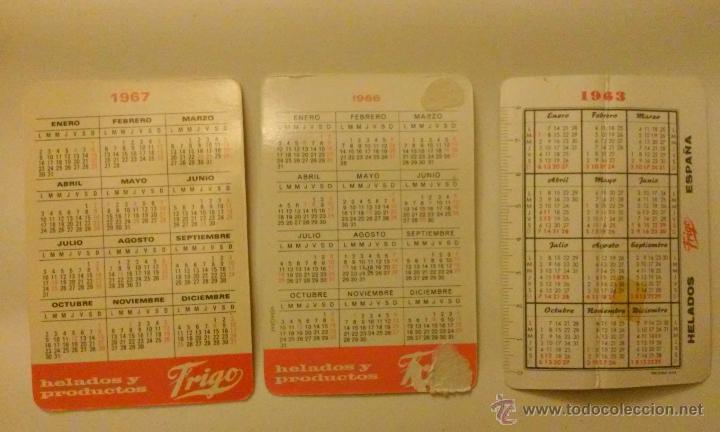 Coleccionismo Calendarios: Tres calendarios helados frigo.Años 1963, 1966, 1967 - Foto 5 - 50827684
