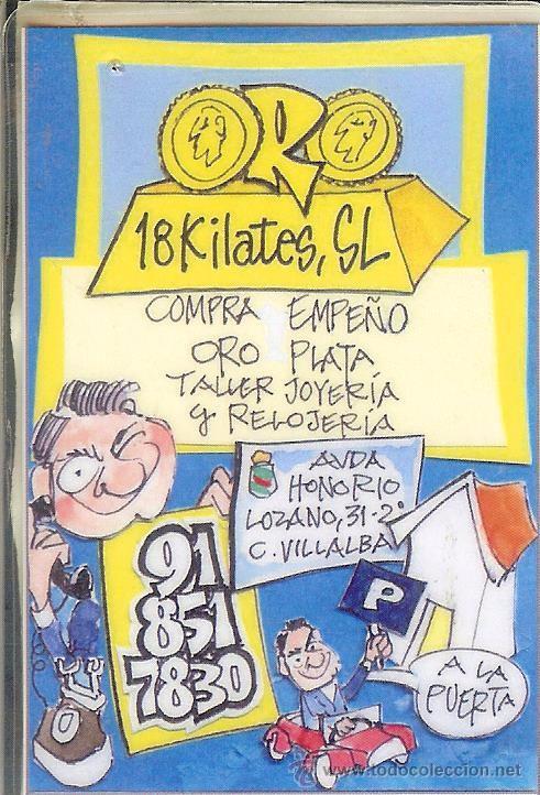 8c4db4a171c5 CALENDARIO PUBLICITARIO - 2013 - COMPRA VENTA DE ORO - 18 KILATES - COLLADO  VILLALBA