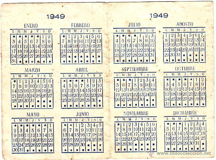 Calendario 1949.Farmacia Vergara De Cadiz 1949 Sold Through Direct Sale