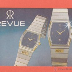 Coleccionismo Calendarios: CALENDARIO EXTRANJERO 1985 - RELOJ REVUE. Lote 50964559