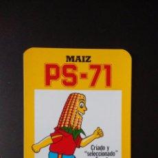 Coleccionismo Calendarios: CALENDARIO SEMILLAS PRODES ESPAÑA MAIZ PS-71 (1987). Lote 51040615
