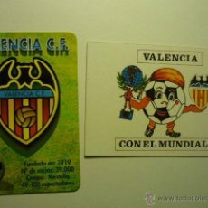 Coleccionismo Calendarios: LOTE CALENDARIOS FUTBOL VALENCIA -1998-1982. Lote 51121506