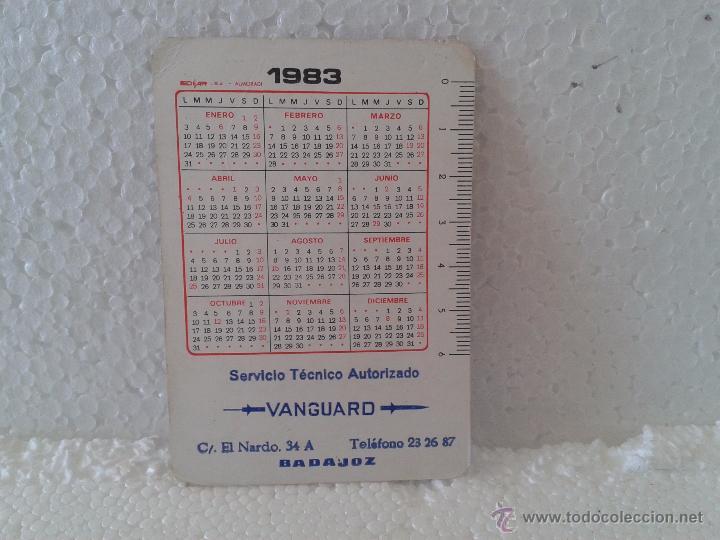 Coleccionismo Calendarios: CALENDARIO 1983- SERVICIO TECNICO, VANGUARD- BADAJOZ - Foto 2 - 51327849