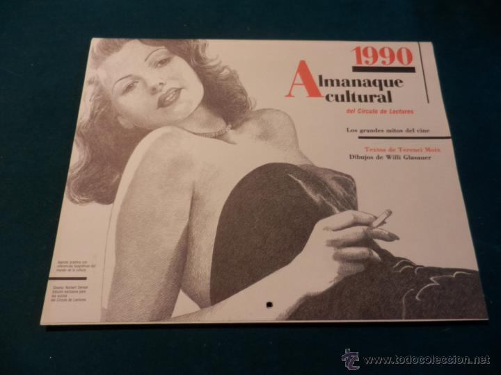 ALMANAQUE CULTURAL CÍRCULO DE LECTORES 1990 - MITOS DEL CINE - TEXTOS TERENCI MOIX (CHARLOT-SUPERMAN (Coleccionismo - Calendarios)