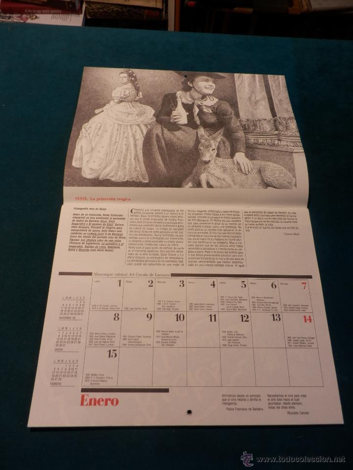 Coleccionismo Calendarios: ALMANAQUE CULTURAL CÍRCULO DE LECTORES 1990 - MITOS DEL CINE - TEXTOS TERENCI MOIX (CHARLOT-SUPERMAN - Foto 2 - 51434952