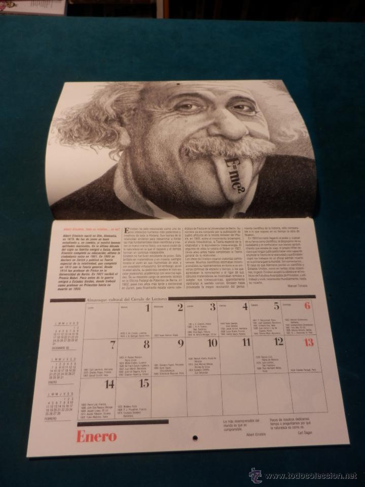 Coleccionismo Calendarios: ALMANAQUE CULTURAL CÍRCULO DE LECTORES 1991 - MOMENTOS ESTELARES DE LA CIENCIA - MANUEL TOHARIA - Foto 2 - 51434990