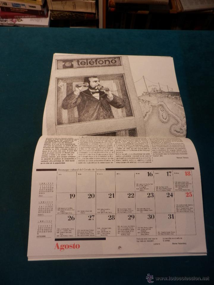 Coleccionismo Calendarios: ALMANAQUE CULTURAL CÍRCULO DE LECTORES 1991 - MOMENTOS ESTELARES DE LA CIENCIA - MANUEL TOHARIA - Foto 3 - 51434990