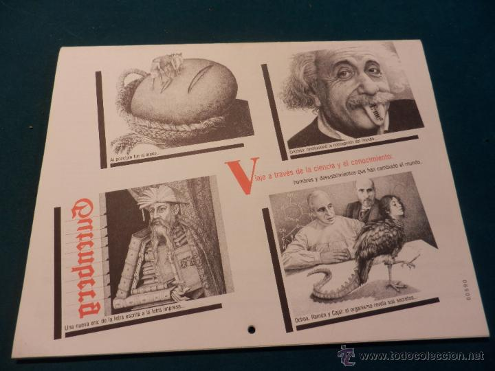Coleccionismo Calendarios: ALMANAQUE CULTURAL CÍRCULO DE LECTORES 1991 - MOMENTOS ESTELARES DE LA CIENCIA - MANUEL TOHARIA - Foto 4 - 51434990