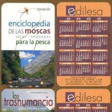 Coleccionismo Calendarios: 2 CALENDARIOS BOLSILLO - EDILESA 2005. Lote 54031162
