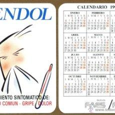 Coleccionismo Calendarios: CALENDARIO BOLSILLO YENDOL GRUPO FAES 1992. Lote 52374766