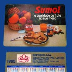 Coleccionismo Calendarios: CALENDARIO DE BOLSILLO - PUBLICADO EN PORTUGAL - AÑO:1985 - SUMOL. Lote 51590241