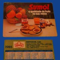 Coleccionismo Calendarios: CALENDARIO DE BOLSILLO - PUBLICADO EN PORTUGAL - AÑO:1985 - SUMOL. Lote 51590249