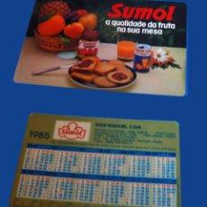 Coleccionismo Calendarios: CALENDARIO DE BOLSILLO - PUBLICADO EN PORTUGAL - AÑO:1985 - SUMOL. Lote 51590267
