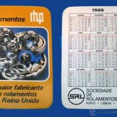 Coleccionismo Calendarios: CALENDARIO BOLSILLO, SERIE PUBLICIDAD, PUBLICADO PORTUGAL, AÑO 1985 - SOCIEDADE DE ROLAMENTOS, LDA. Lote 51626304