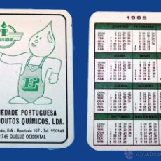Coleccionismo Calendarios: CALENDARIO BOLSILLO, PUBLICADO PORTUGAL, AÑO 1985 - SOCIEDADE PORTUGUESA DE PRODUTOS QUIMICOS, LDA. Lote 51626690