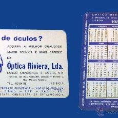 Coleccionismo Calendarios: CALENDARIO BOLSILLO, PUBLICADO PORTUGAL, AÑO 1985 - ÓPTICA RIVIERA, LDA.. Lote 51636591