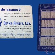 Coleccionismo Calendarios: CALENDARIO BOLSILLO, PUBLICADO PORTUGAL, AÑO 1985 - ÓPTICA RIVIERA, LDA.. Lote 51636609