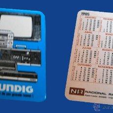 Coleccionismo Calendarios: CALENDARIO BOLSILLO, SERIE PUBLICIDAD, PUBLICADO PORTUGAL, AÑO 1985 - GRUNDIG. Lote 51695039
