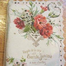 Coleccionismo Calendarios: ANTIGUO CALENDARIO 1903 - REGALO DE LA CASA EVARISTO JUNCOSA A SUS CLIENTES - CHOCOLATES BARCELONA. Lote 51697186