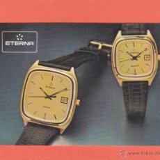Coleccionismo Calendarios: CALENDARIO EXTRANJERO 1985 - RELOJ ETERNA. Lote 51927085