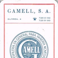 Coleccionismo Calendarios: CALENDARIO DE GAMELL, S.A. DE 1980 DE SABADELL. Lote 51960489