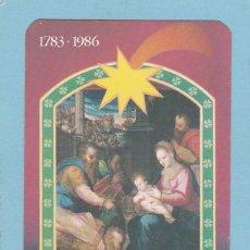 Coleccionismo Calendarios: CALENDARIO EXTRANJERO 1986 - LOTARIA NACIONAL. LOTERIA. Lote 51966302