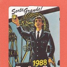 Coleccionismo Calendarios: CALENDARIO EXTRANJERO 1988 - LOTARIA NACIONAL. LOTERIA. Lote 51966343