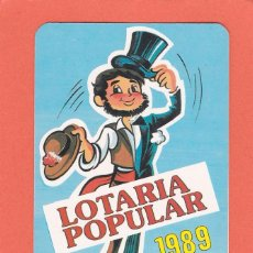 Coleccionismo Calendarios: CALENDARIO EXTRANJERO 1989 - LOTARIA NACIONAL. LOTERIA. Lote 51966358