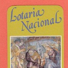 Coleccionismo Calendarios: CALENDARIO EXTRANJERO 1991 - LOTARIA NACIONAL. LOTERIA. Lote 51966376