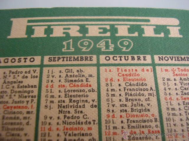 Calendario 1949.Calendario Pirelli 1949