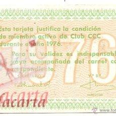 Coleccionismo Calendarios: CALENDARIO CLUB CCC. 1976. Lote 52323910