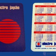 Coleccionismo Calendarios: CALENDARIO SERIE PUBLICIDAD, PUBLICADO PORTUGAL - AÑO:1985 - ELECTRO JAPÁO. Lote 52457607