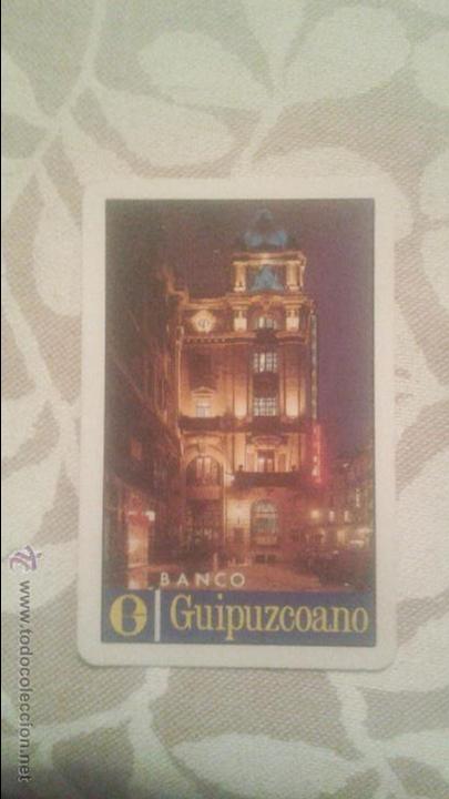 CALENDARIO FOURNIER BANCO GUIPUZCOANO (Coleccionismo - Calendarios)