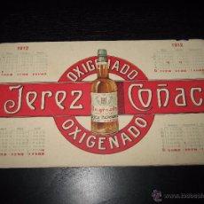 Coleccionismo Calendarios: CALENDARIO OXIGENADO JEREZ COÑAC AÑO 1912. Lote 52661988