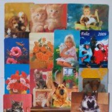Coleccionismo Calendarios: 17 CALENDARIOS DE BOLSILLO TEMÁTICA ANIMALES Y FLORES. Lote 52967248
