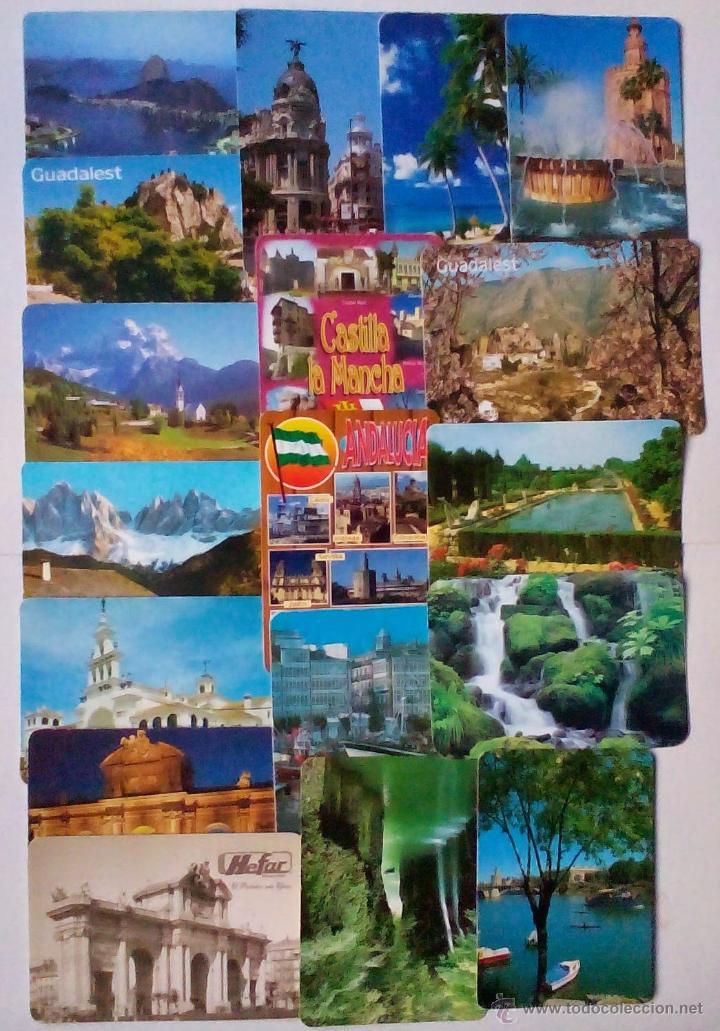18 CALENDARIOS DE BOLSILLO VISTAS PANORÁMICAS Y MONUMENTOS DE ESPAÑA (Coleccionismo - Calendarios)