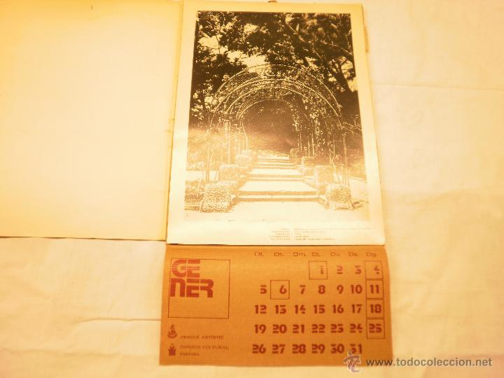 Coleccionismo Calendarios: CALENDARIO DE PARED 1976. MANIFESTACIONS MODERNISTES A TORTOSA - Foto 3 - 53067492