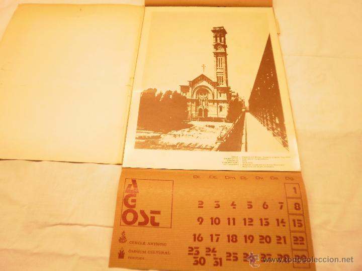 Coleccionismo Calendarios: CALENDARIO DE PARED 1976. MANIFESTACIONS MODERNISTES A TORTOSA - Foto 10 - 53067492