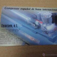 Coleccionismo Calendarios: CALENDARIO 1988 COMPRESOR MERCURY TEACAM, SL. Lote 53084643